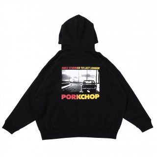 <img class='new_mark_img1' src='https://img.shop-pro.jp/img/new/icons5.gif' style='border:none;display:inline;margin:0px;padding:0px;width:auto;' />PORK CHOP GARAGE SUPPLY PORK C-10 PHOTO HOODIE/BLACK