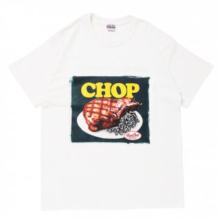 <img class='new_mark_img1' src='https://img.shop-pro.jp/img/new/icons5.gif' style='border:none;display:inline;margin:0px;padding:0px;width:auto;' />PORK CHOP GARAGE SUPPLY CHOP TEE/WHITE