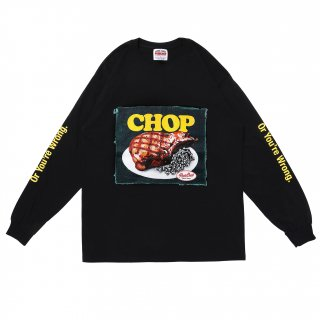 <img class='new_mark_img1' src='https://img.shop-pro.jp/img/new/icons5.gif' style='border:none;display:inline;margin:0px;padding:0px;width:auto;' />PORK CHOP GARAGE SUPPLY CHOP L/S TEE/BLACK