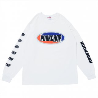 <img class='new_mark_img1' src='https://img.shop-pro.jp/img/new/icons5.gif' style='border:none;display:inline;margin:0px;padding:0px;width:auto;' />PORK CHOP GARAGE SUPPLY 2nd Oval L/S TEE/WHITE