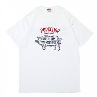 <img class='new_mark_img1' src='https://img.shop-pro.jp/img/new/icons5.gif' style='border:none;display:inline;margin:0px;padding:0px;width:auto;' />PORKCHOP GARAGE SUPPLY CHOPPERS WELCOME TEE/WHITE