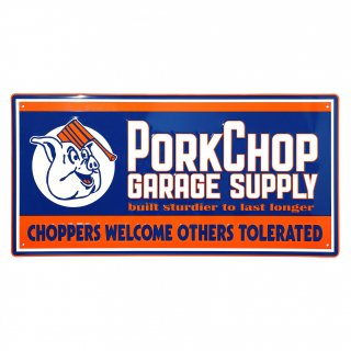 <img class='new_mark_img1' src='https://img.shop-pro.jp/img/new/icons5.gif' style='border:none;display:inline;margin:0px;padding:0px;width:auto;' />PORKCHOP GARAGE SUPPLY METAL SIGN