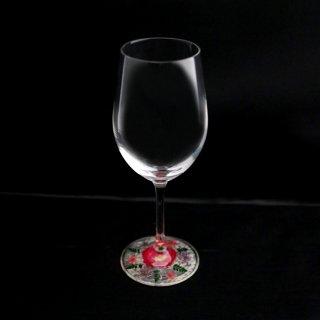 ミュゼグラス 押し花[ミニバラ](ワイングラス)