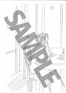 ★「怜々蒐集譚」モノクロ絵ハガキ B-2 葛葉&南&出泉カフェ 1/2