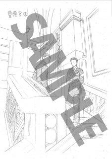 ★「クロードと一緒に・2019」モノクロ絵ハガキ A-5  護官階段