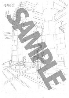 ★「クロードと一緒に・2019」モノクロ絵ハガキ B-9警護官外