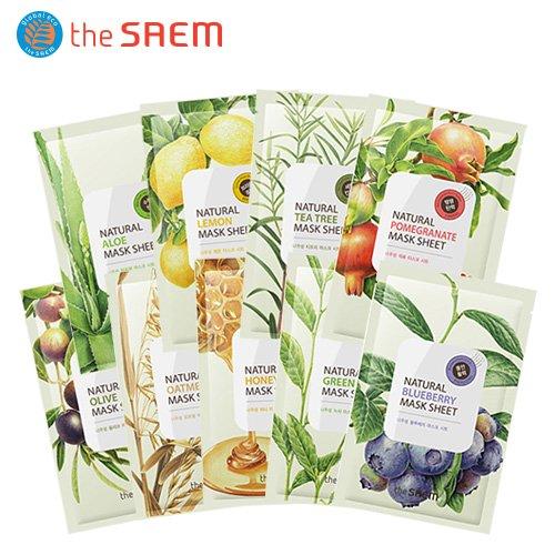 【the SAEM】 10枚】 ザセム ナチュラルマスクシート17類 Natural Mask Sheet 21ml