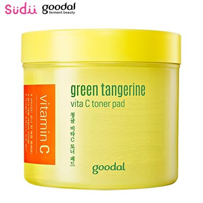 <img class='new_mark_img1' src='https://img.shop-pro.jp/img/new/icons25.gif' style='border:none;display:inline;margin:0px;padding:0px;width:auto;' />【goodal】 グダール青みかんヴィータCトナーパッド70枚 Goodal Green Tangerine Vita C Toner Pad 70p