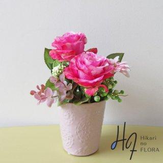 光触媒アートフラワーアレンジメント【ジョセリン】薔薇の姿がきれいなアートフラワーアレンジです。