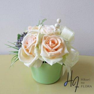 光触媒アートフラワーアレンジメント【ジョリア】優しいピンクのバラが、いい感じです。心が和らぎます。