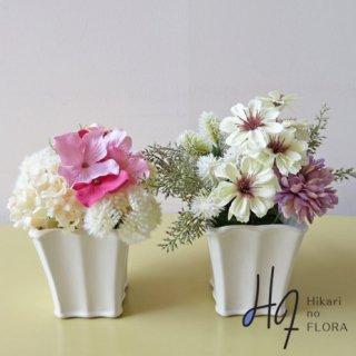 高級造花アレンジメント【set209】優しいフェミニンなアレンジメントです。