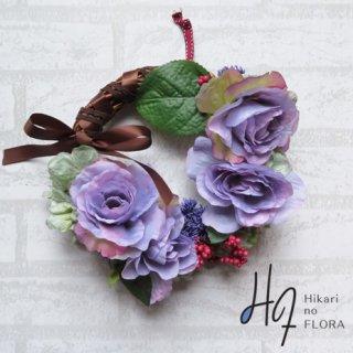 光触媒加工・壁掛けリース【wreath264】薔薇の大人オシャレなリースです。wreath(リース)は永遠と愛の象徴です。