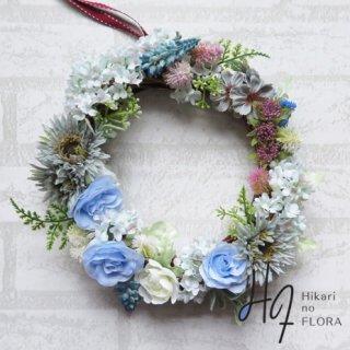 光触媒加工・壁掛けリース【wreath265】ナチュラル感が素敵なリースです。小花たちが可愛くキレイです。wreath(リース)は永遠と愛の象徴です。
