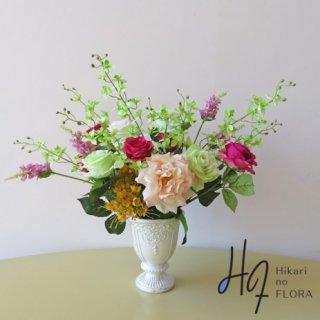 高級造花アレンジメント【ラリケ】美しいアレンジメントです。贈り物にいかがでしょうか。