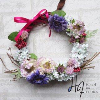 光触媒加工・壁掛けリース【wreath272】草原のリースです。wreath(リース)は永遠と健康と愛情の象徴です。