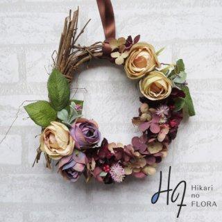 光触媒加工・壁掛けリース【wreath274】シックなリースです。wreath(リース)は永遠と健康と愛情の象徴です。