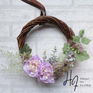 光触媒加工・壁掛けリース【wreath279】ナチュラルな花々のリースです。wreath(リース)は永遠と健康と愛情の象徴です。