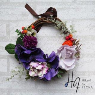 光触媒加工・壁掛けリース【wreath280】ちょっと大胆な色彩のリースです。wreath(リース)は永遠と健康と愛情の象徴です。
