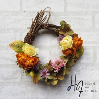 光触媒加工・壁掛けリース【wreath286】シックな感じが素敵なリースです。wreath(リース)は永遠と健康と愛情の象徴です