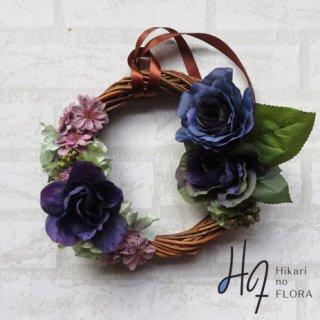光触媒加工・壁掛けリース【wreath289】ブルーのリースです。wreath(リース)は永遠と健康と愛情の象徴です。