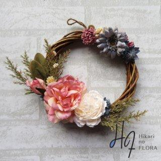 光触媒加工・壁掛けリース【wreath292】バラとすてきなガーベラのリースです。wreath(リース)は永遠と健康と愛情の象徴です。