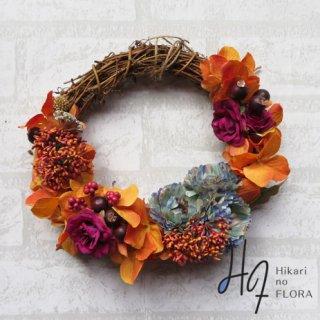 光触媒加工・壁掛けリース【wreath293】個性的な色彩のリースです。wreath(リース)は永遠と健康と愛情の象徴です。