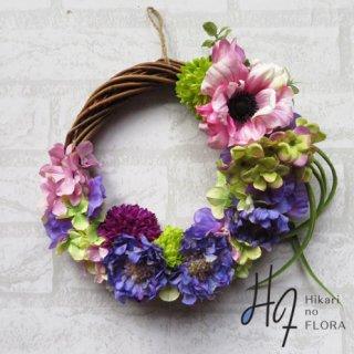 光触媒加工・壁掛けリース【wreath294】色彩豊かなのリースです。wreath(リース)は永遠と健康と愛情の象徴です。