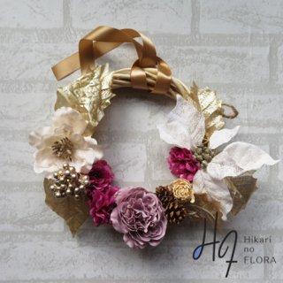 光触媒加工・壁掛けリース【wreath301】個性的な色彩のリースです。wreath(リース)は永遠と健康と愛情の象徴です。