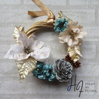 光触媒加工・壁掛けリース【wreath302】個性的な色彩のリースです。wreath(リース)は永遠と健康と愛情の象徴です。