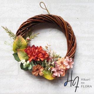 光触媒加工・壁掛けリース【wreath308】葉っぱが魅力のリースです。wreath(リース)は永遠と健康と愛情の象徴です。
