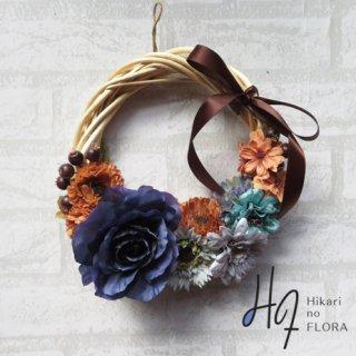 光触媒加工・壁掛けリース【wreath310】個性的な色彩のリースです。wreath(リース)は永遠と健康と愛情の象徴です。