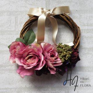 光触媒加工・壁掛けリース【wreath311】個性的な色彩のリースです。wreath(リース)は永遠と健康と愛情の象徴です。