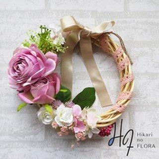 光触媒加工・壁掛けリース【wreath321】素敵なバラのリースです。wreath(リース)は永遠と健康と愛情の象徴です。