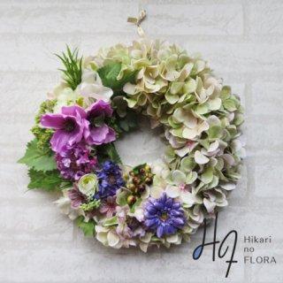 光触媒加工・壁掛けリース【wreath331】オシャレなリースです。wreath(リース)は永遠と健康と愛情の象徴です。他の方とあまりかぶらない、嬉しい贈り物です。