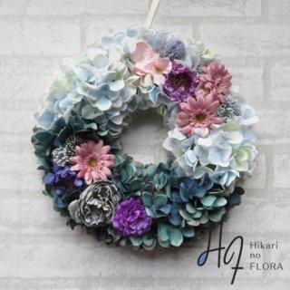 光触媒加工・壁掛けリース【wreath333】小花もアクセントになったオシャレなリースです。wreath(リース)は永遠と健康と愛情の象徴です。他の方とあまりかぶらない、嬉しい贈り物です。