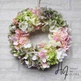 光触媒加工・壁掛けリース【wreath336】色彩の妙が感じられる素敵ななリースです。wreath(リース)は永遠と健康と愛情の象徴です。他の方とあまりかぶらない、嬉しい贈り物です。