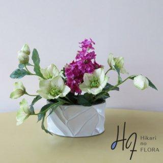 高級造花アレンジメント【イターラ】ライラックとローズの高級造花アレンジメントです。