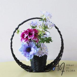 高級造花アレンジメント【ダリア&アネモネ】お部屋にちょこと和風感を。ちょこっとです、、、