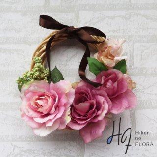 光触媒加工・壁掛けリース【wreath348】バラの壁掛けです。wreath(リース)は永遠と健康と愛情の象徴です。