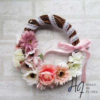 光触媒加工・壁掛けリース【wreath351】素敵な花々の壁掛けです。wreath(リース)は永遠と健康と愛情の象徴です。
