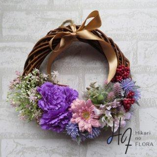 光触媒加工・壁掛けリース【wreath352】小花が美しい壁掛けです。wreath(リース)は永遠と健康と愛情の象徴です。