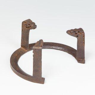 風炉用 五徳 笹爪・虫食 (5寸と7寸) 般若勘渓作