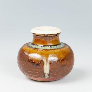高取焼 文琳茶入 高取八山(十二代)作