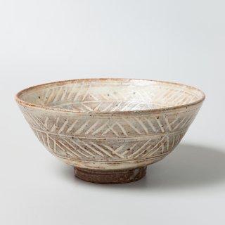 彫三島茶碗 高取八山作(13代)