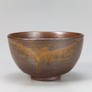 志戸呂 褐釉茶碗 青嶋利陶作