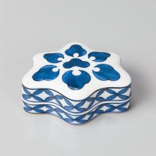 花蝶窯 花カツミ紋香合