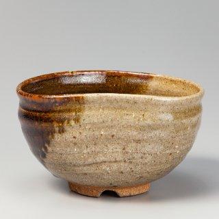 紅心宗慶宗匠好 上野掛分茶碗(十文字高台) 「未」 白川甫硯作