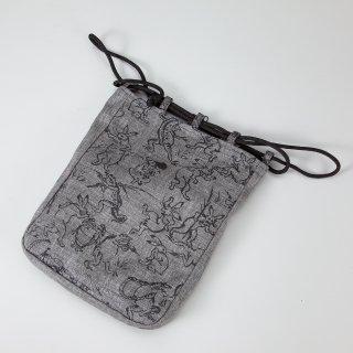 信玄袋 鳥獣戯画(竹炭布)