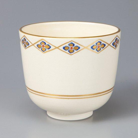 色絵花菱画茶碗 相模竜泉作