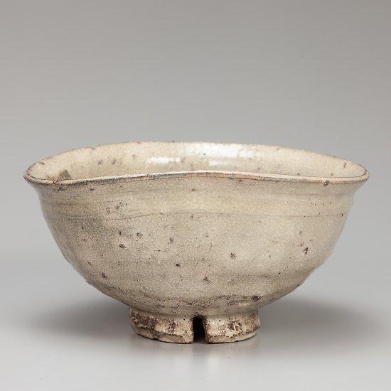 古萩手茶碗